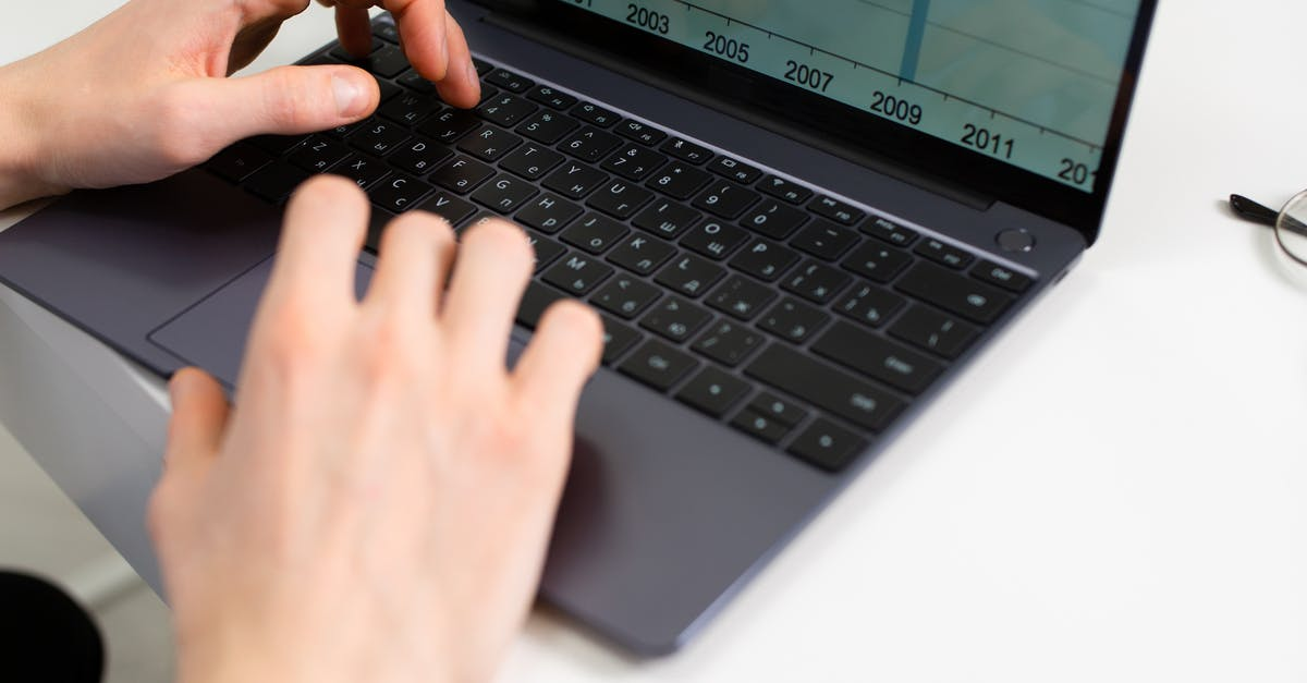A person using a laptop computer